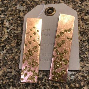 Women's rose gold earrings